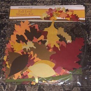 Paper Source Fall Leaf Paper Wreath Kit